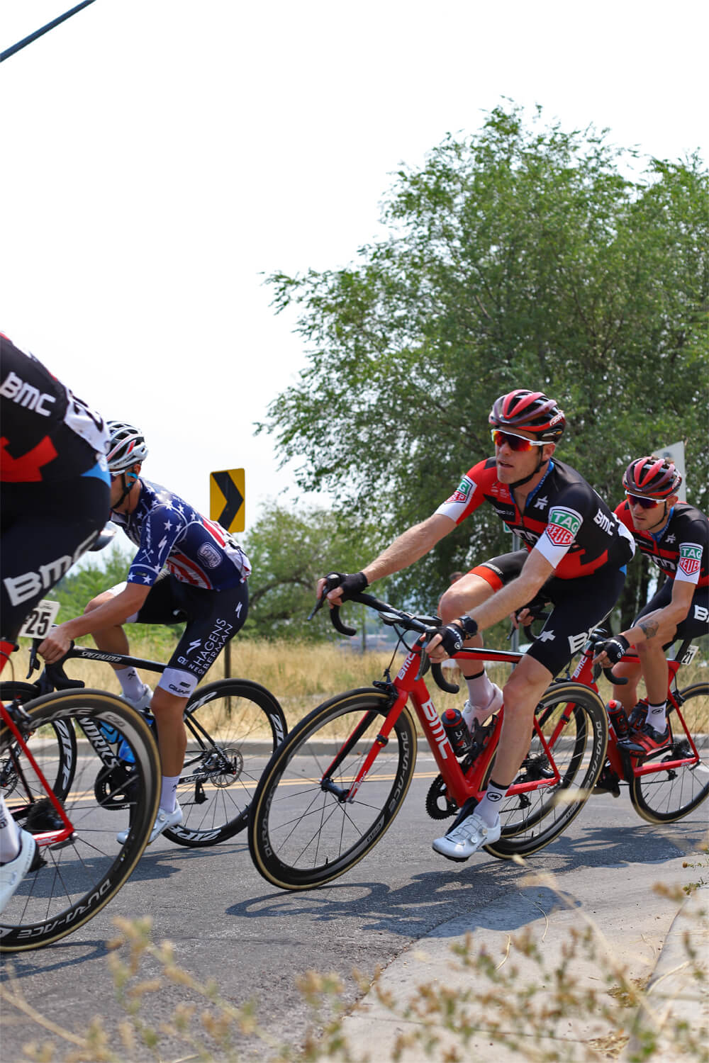 Contender Salt Lake City Stage Tour of Utah BMC Racing Team Brent Bookwalter entering City Creek