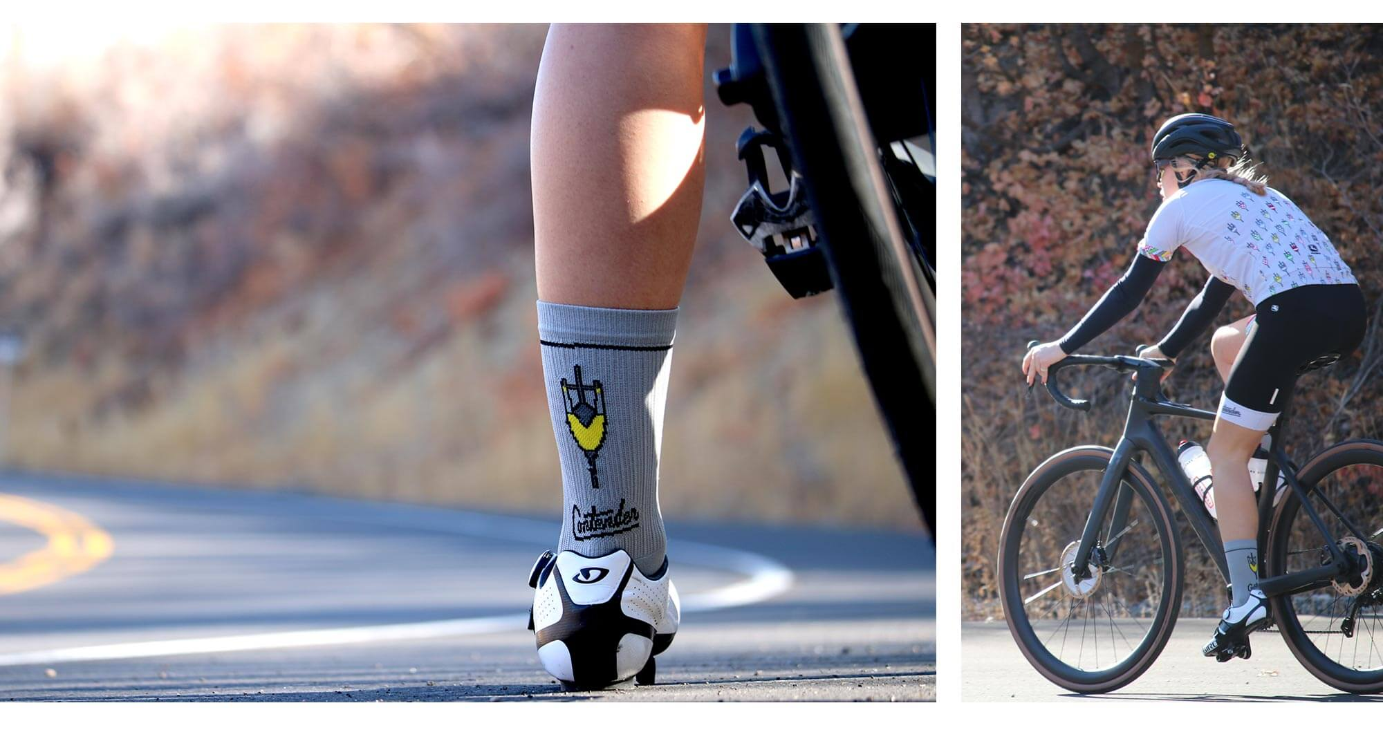 Contender Cyclist Socks Kit collage