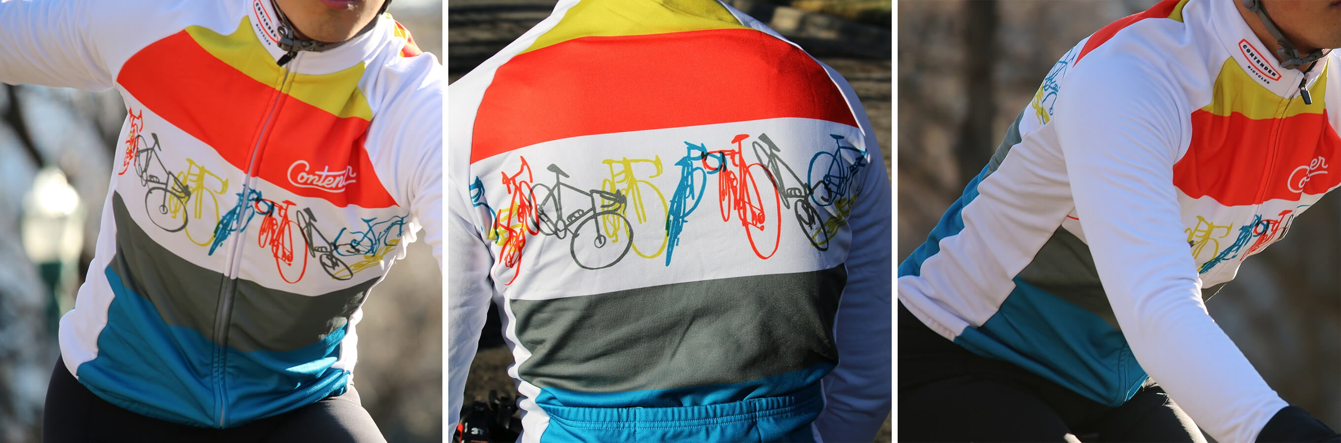 Contender x Espinosa Jersey White - Contender Bicycles