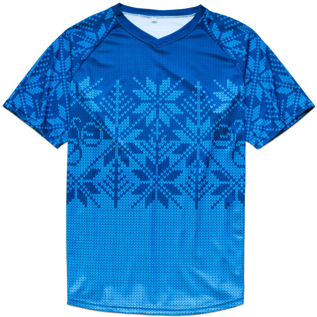 Contender Bicycles Knit Mountain Jersey Blue