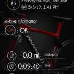 Ebikemotion app last position and status of bike page 1