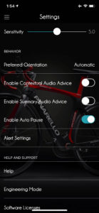 Ebikemotion app settings bike behavior