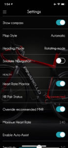 Ebikemotion app settings bike health