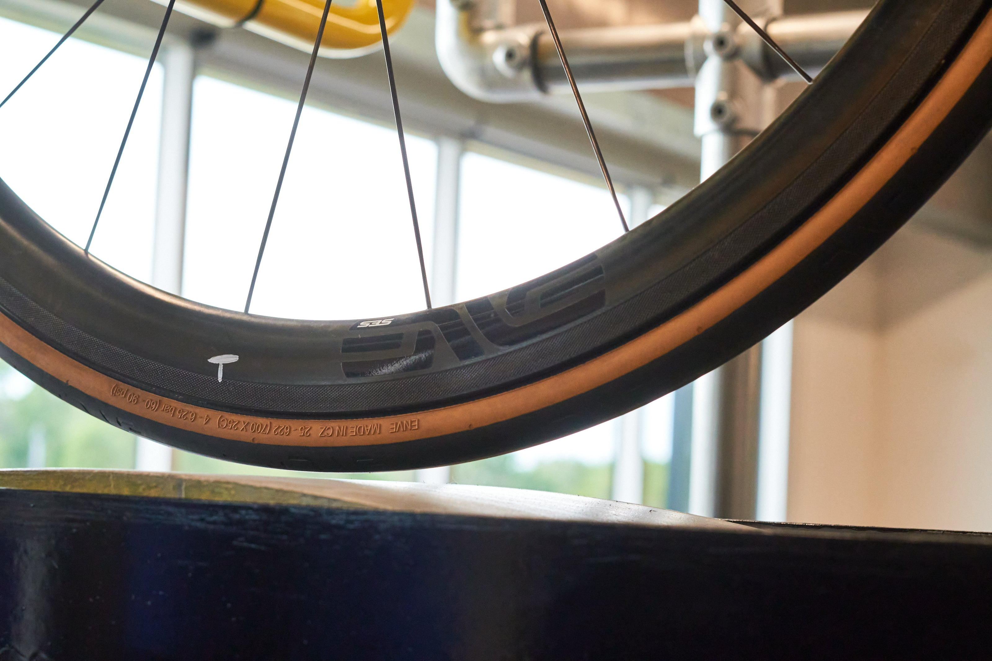 ENVE Factory tour with Contender Bicycles - tire testing