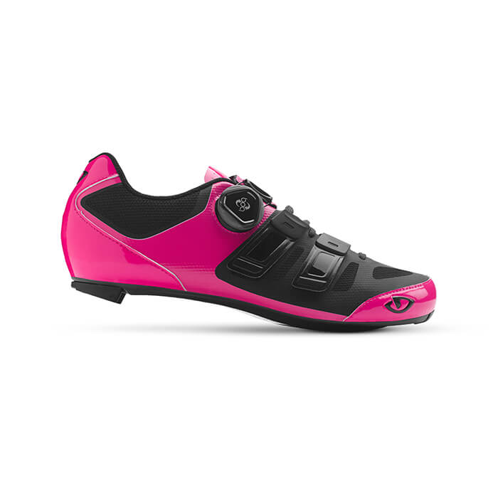 Giro Raes Techlace Shoes Bright Pink Black Side