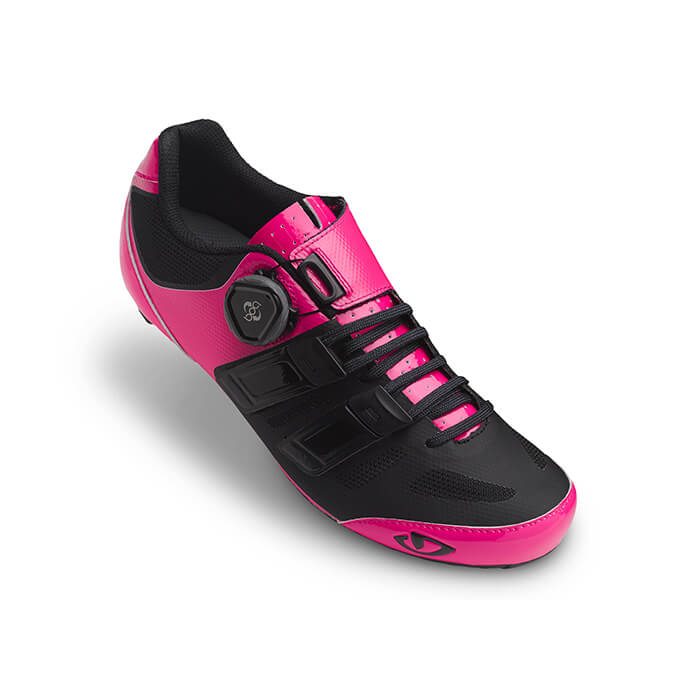 Giro Raes Techlace Shoes Bright Pink Black