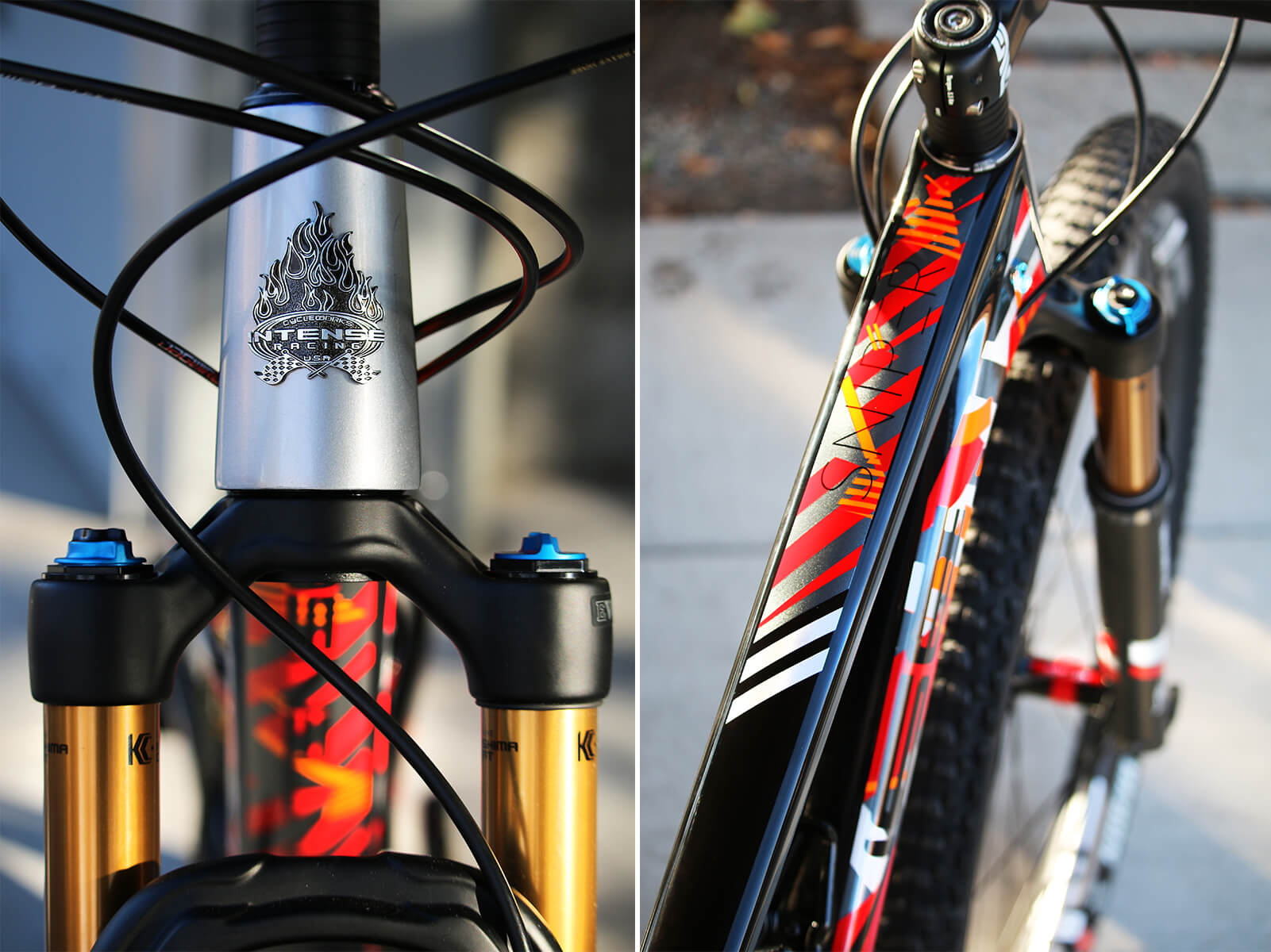 Intense Cycles Headtube Badge Frame Detail - Contender Bicycles