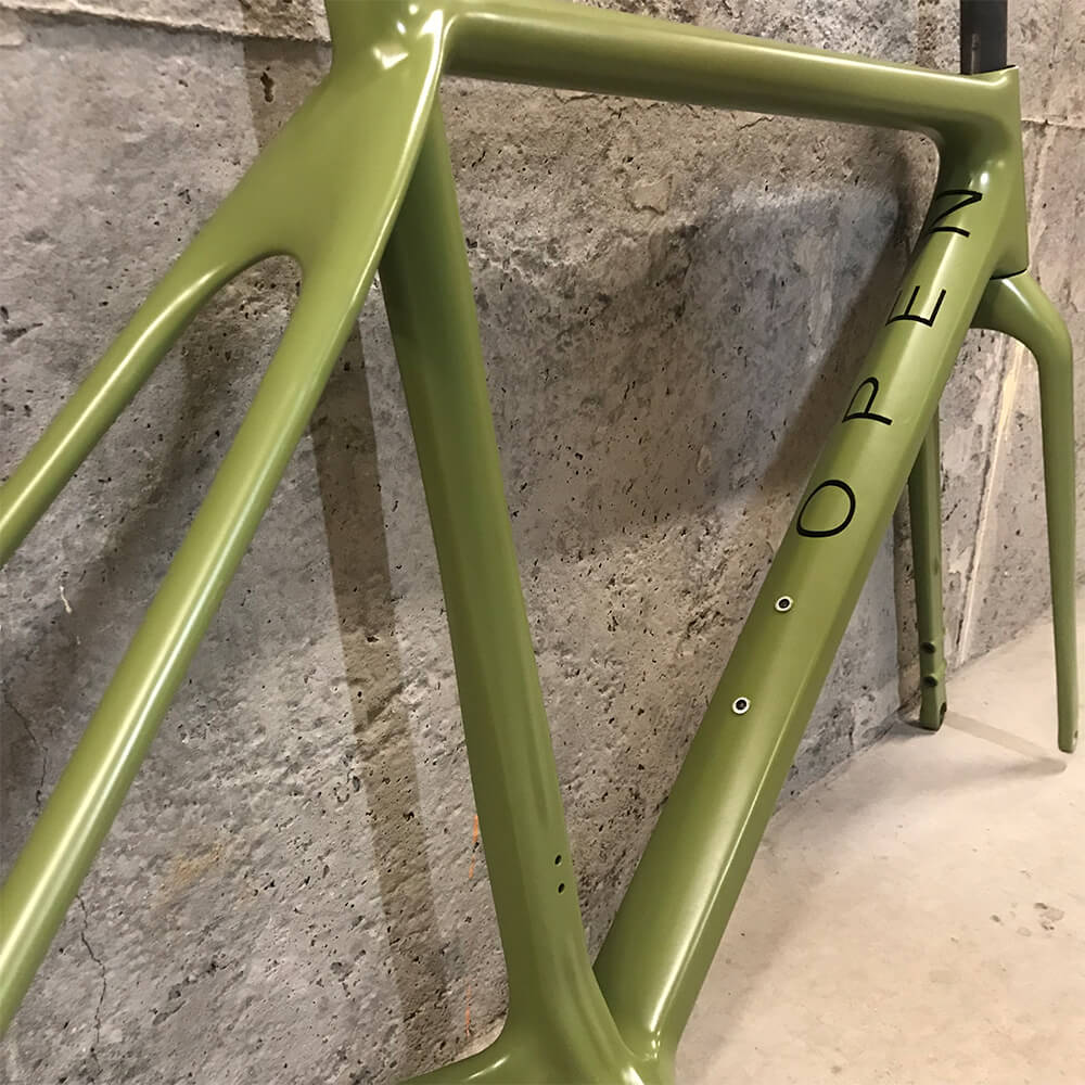 OPEN Cycle U.P. Frameset (Ready to Paint) Custom Green. Contender Bicycles.