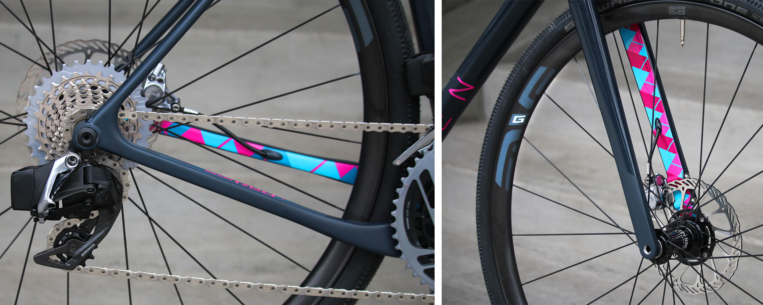 OPEN U.P. Limited Edition SRAM RED eTap AXS Detail - Contender Bicycles
