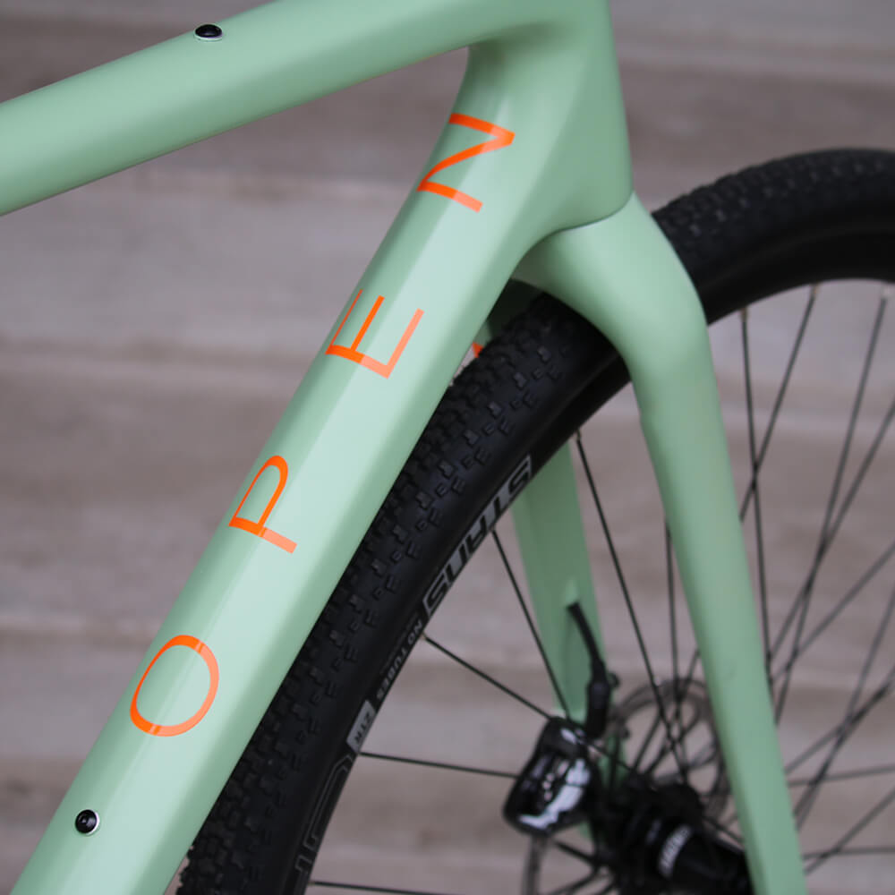 OPEN U.P. Ready to Paint Green/Orange - Contender Bicycles
