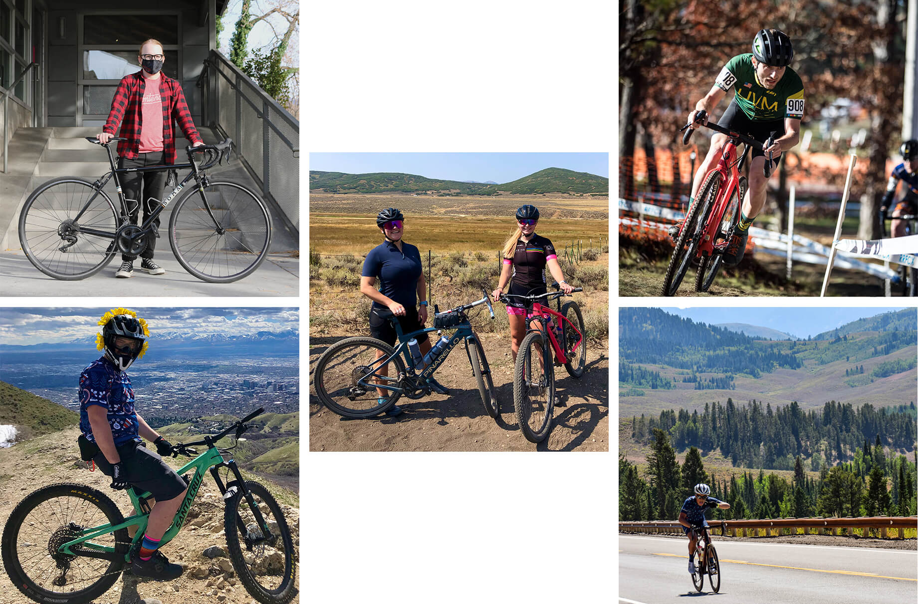 Cycling in a Pandemic - Collage