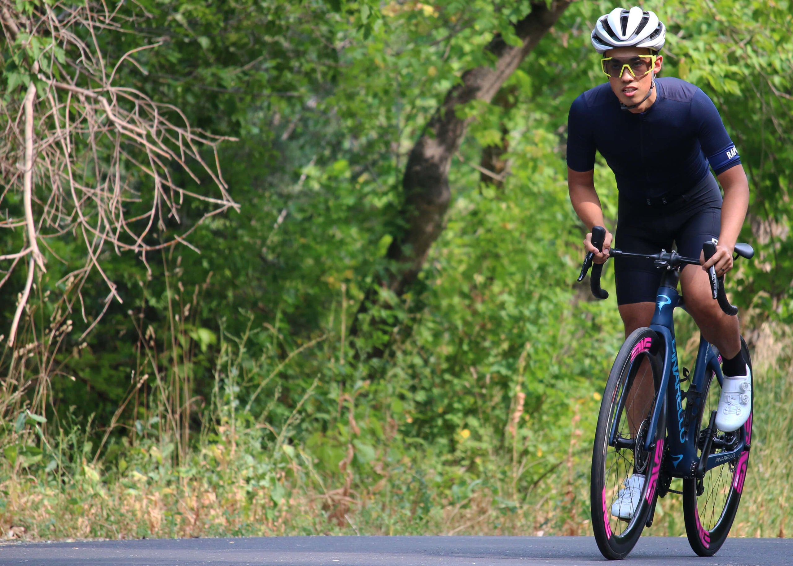 Rapha Pro Flyweight Jersey Riding - Contender Bicycles