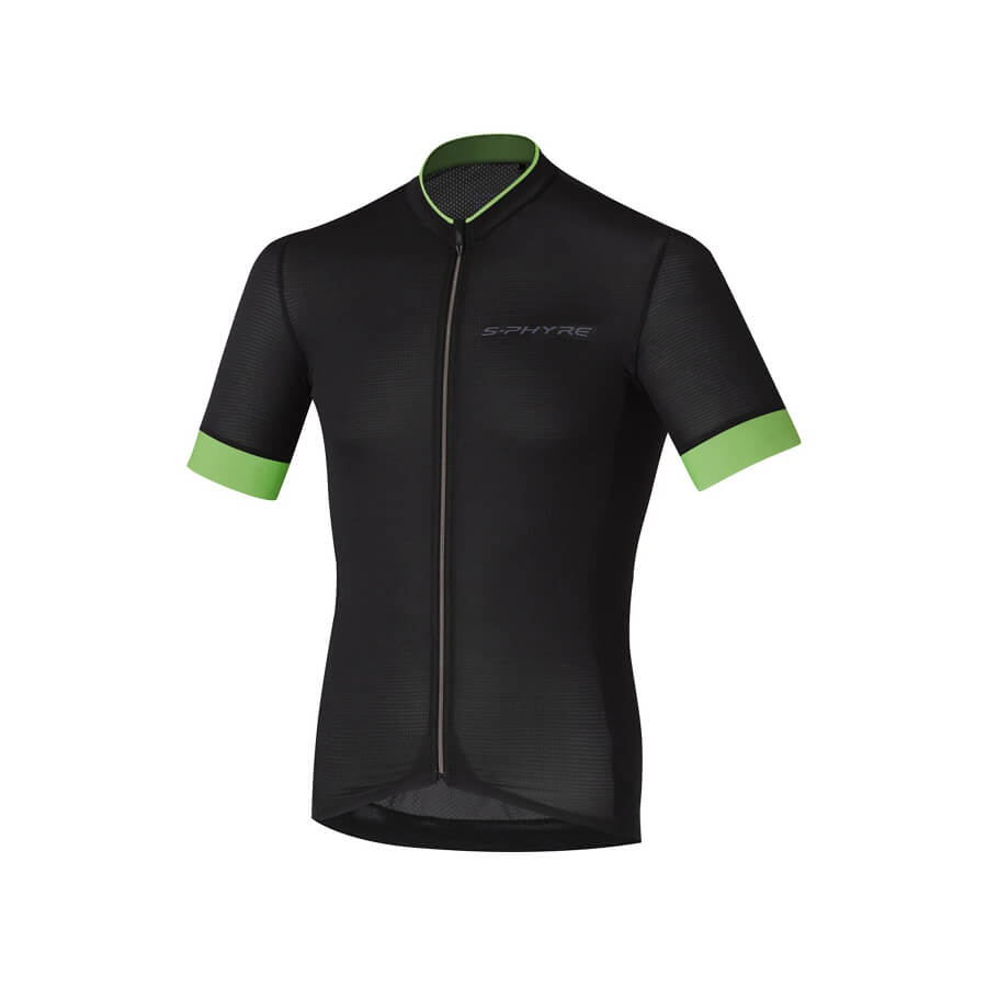 S-Phyre Short Sleeve Jersey 19' Black/Neon Green