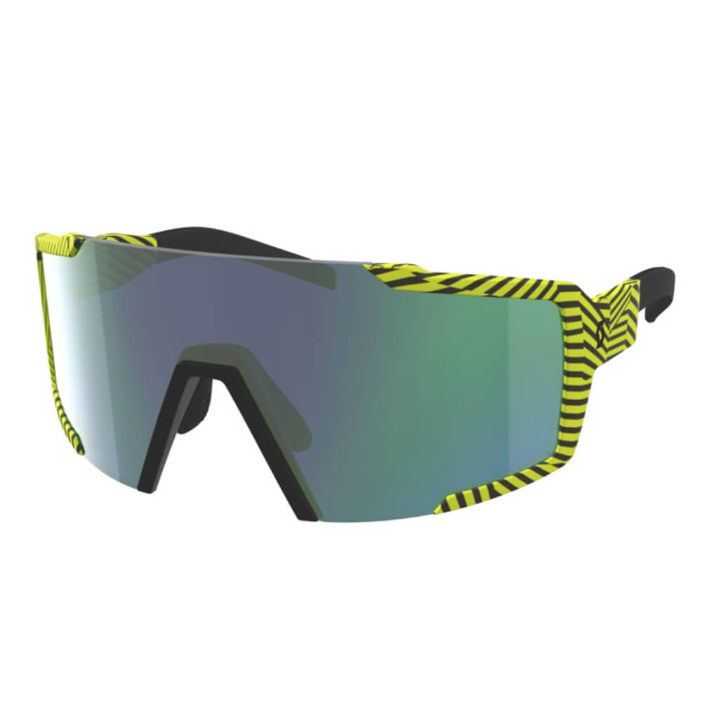 SCOTT Shield Sunglasses - Black/Yellow Green/Chrome
