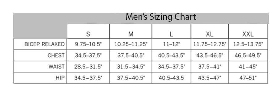 Contender Sizing Chart