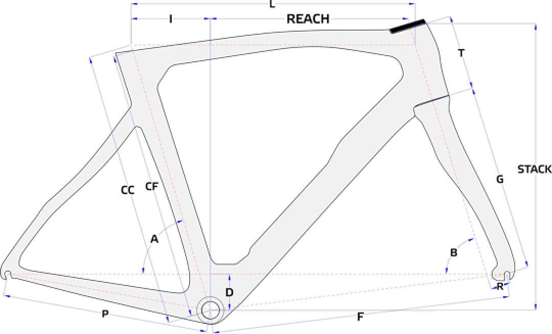 Pinarello Prince/GAN/Easy Fit Geometry Chart