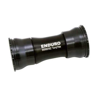 Enduro TorqTite Bottom Bracket: BB86/92, Angular Contact Stainless Steel Bearing Black