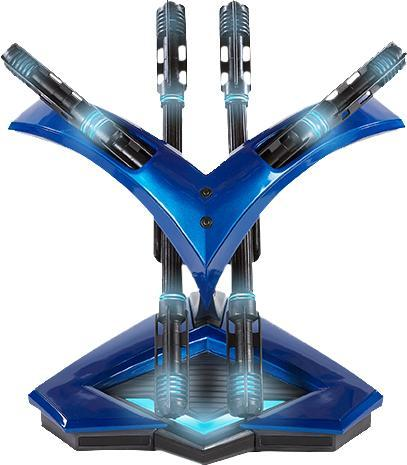 Nightwing Batons and theme display stand.
