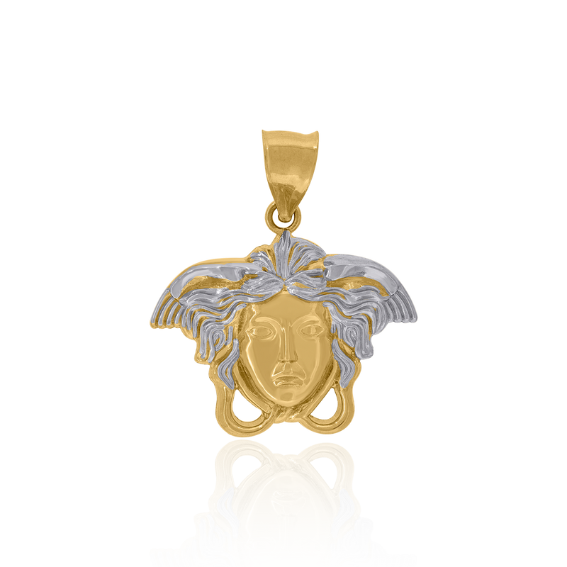 10kt Two-Tone Gold Mens Versace Egyptian Charm Pendant - Drip Brother