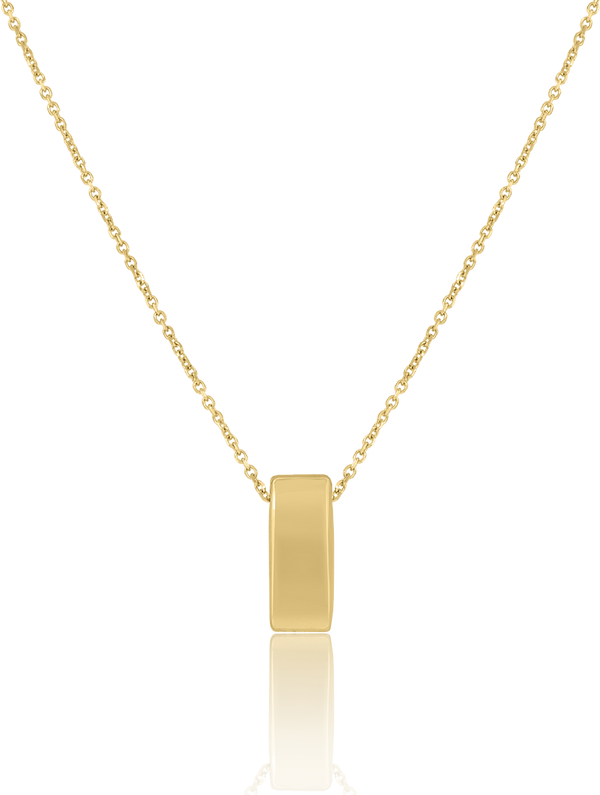 14kt Yellow Gold Womens Polished Finish Bar Necklace Size 18 Inches