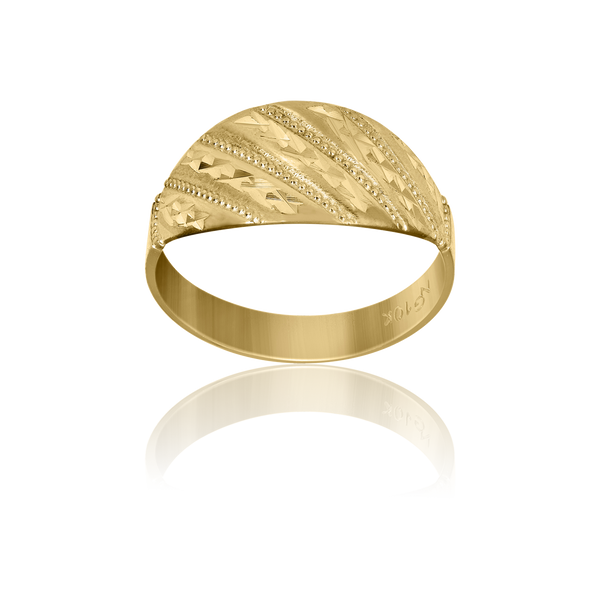 10kt Yellow Gold Womens Fashion Rings