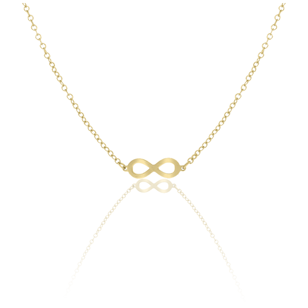 14kt Yellow Gold Womens Polished Finish Infinity Necklace Size 18 Inches