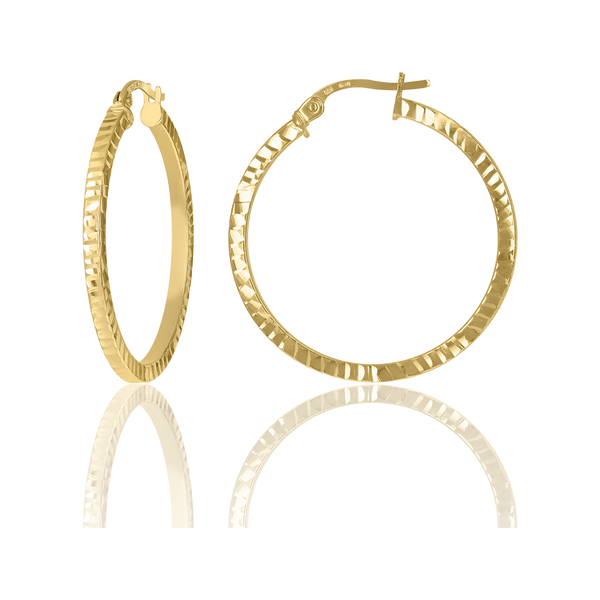 10kt Yellow Gold Dc Womens Square Tube Hinged Hoops Huggies - Drip Brother