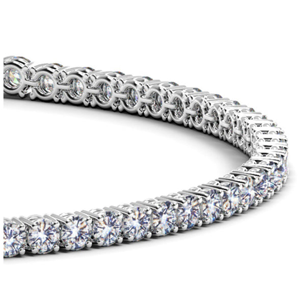 14k White Gold Round Diamond Tennis Bracelet (3 cttw) - Drip Brother