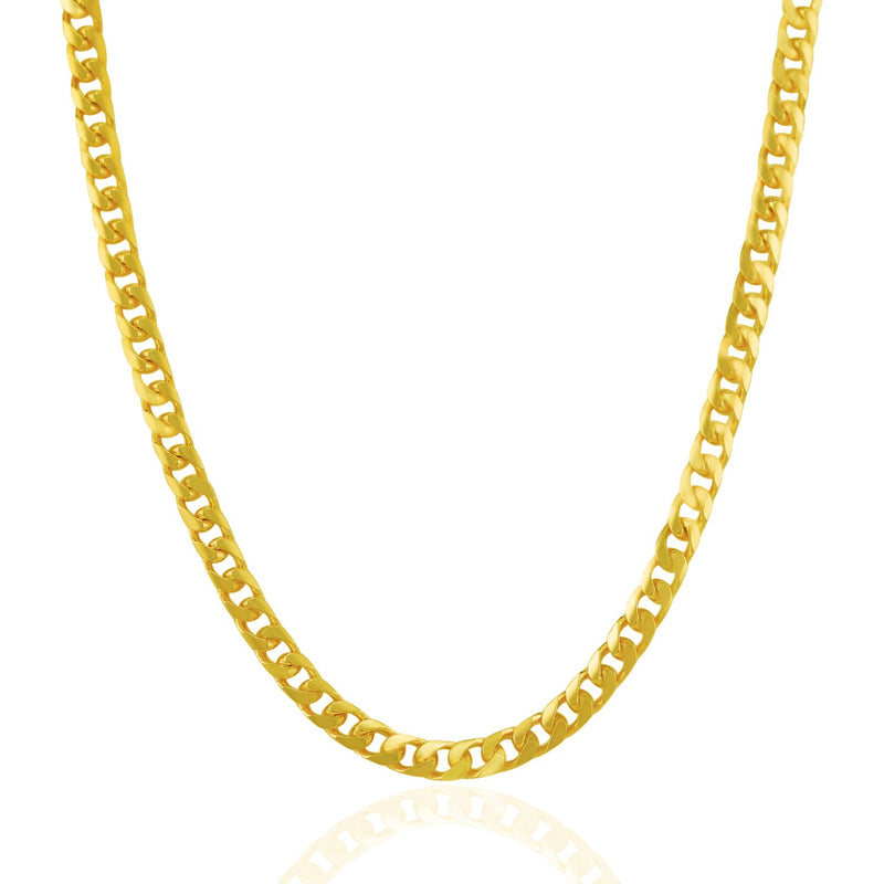 4.4mm 14k Gold Solid Miami Cuban Chain