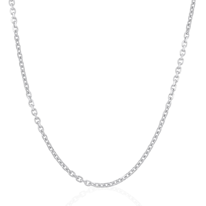 3.1mm 14k White Gold Cable Link Chain