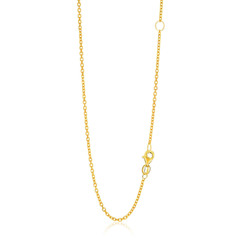 14k Gold Adjustable Cable Chain 1.5mm