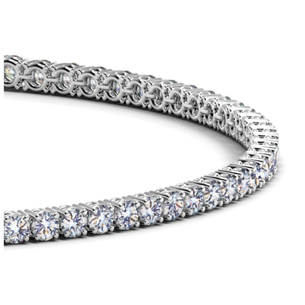 14k White Gold Round Diamond Tennis Bracelet (2 cttw) - Drip Brother