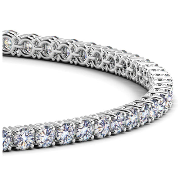 14k White Gold Round Diamond Tennis Bracelet (4 cttw) - Drip Brother