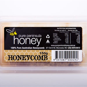 Honeycomb Chunks 150gm - Pure Peninsula Honey