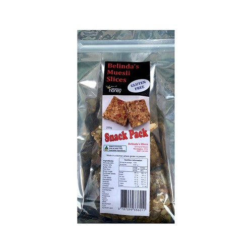 Muesli Slices Snack Pack (Gluten Free) 200g - Pure Peninsula Honey