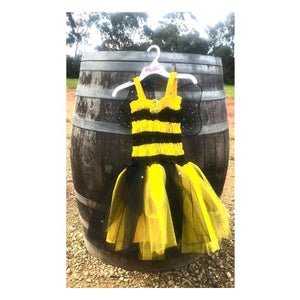 Load image into Gallery viewer, Bumblebee Fairy Dress Medium