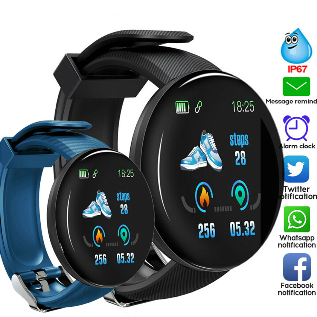 Smart Watch / Smart Wristband / Smart Bracelet For Men & Women With Waterproof Heart Rate & Blood Pressure Monitor for iOS Android Fitness Tracker