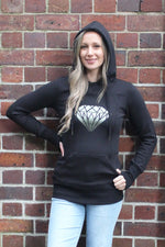 Monroe Diamond Printed Super Stretch Breastfeeding Hoodie