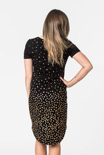 Short Sleeve Goldie Foil Printed Dress - Non Breastfeeding