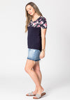 Lucia Midnight & Floral Short Sleeve Breastfeeding Top