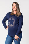 Midnight Star Foil Printed Breastfeeding Jersey