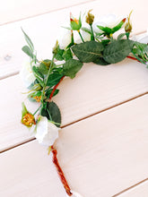 Load image into Gallery viewer, Rosa Flower Crown in Cream White