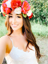 Load image into Gallery viewer, Scarlet Flower Crown