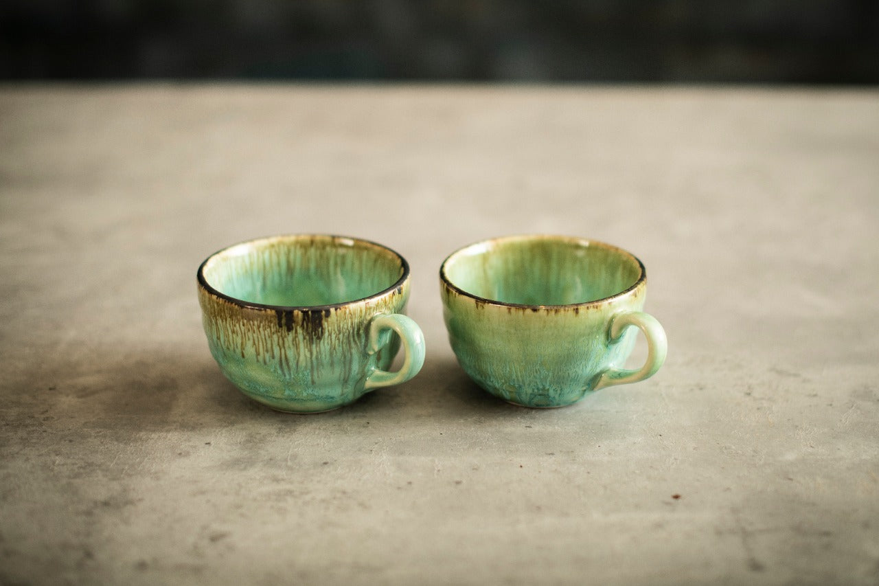 A Tiny Mistake Teal Hues Studio Ceramic Mugs Set of 2