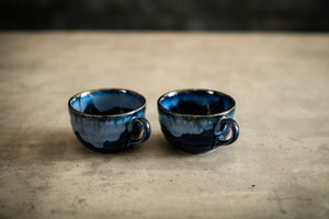 A Tiny Mistake Blue Hues Studio Ceramic Mugs Set of 2