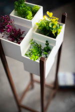 Load image into Gallery viewer, Wooden Planter Indoor Stand