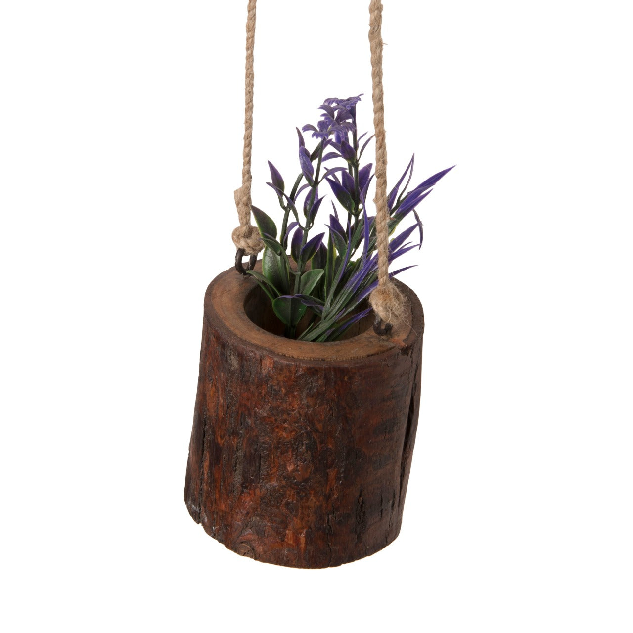 Hanging Wooden Log Planters