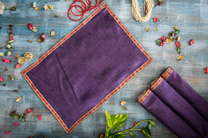 A Tiny Mistake Set of 4 Red Border and Purple Table Mats