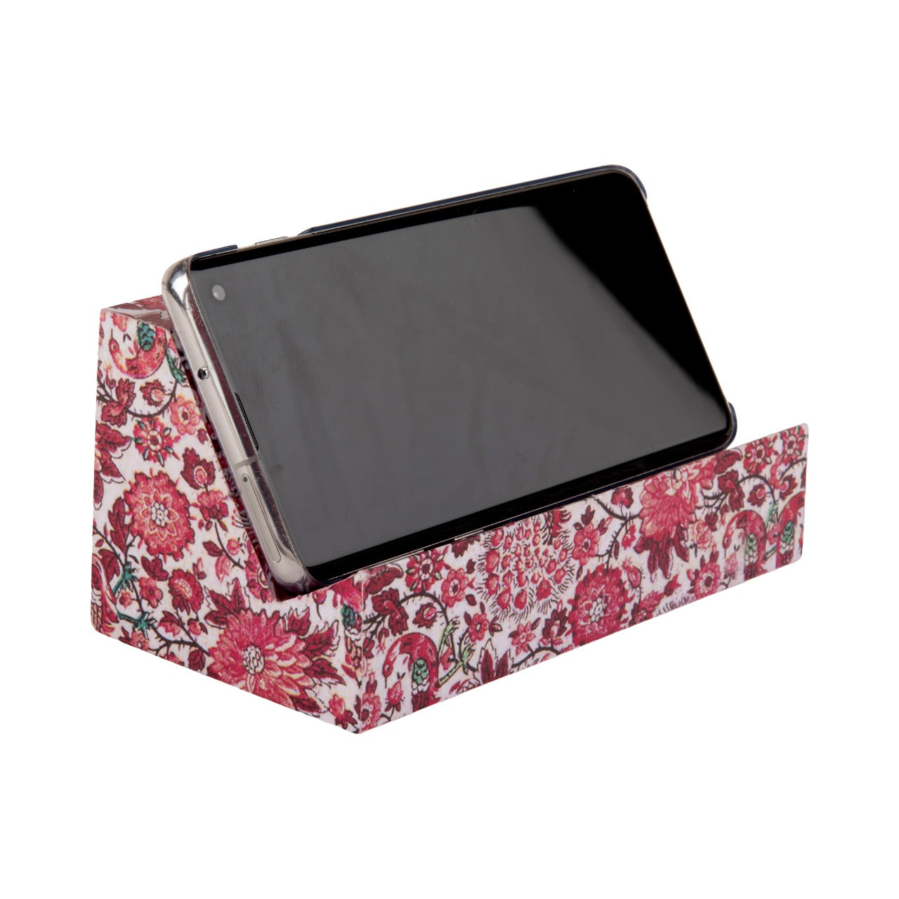 A Tiny Mistake Red Spring Floral Phone Stand for Charging and Watching Videos