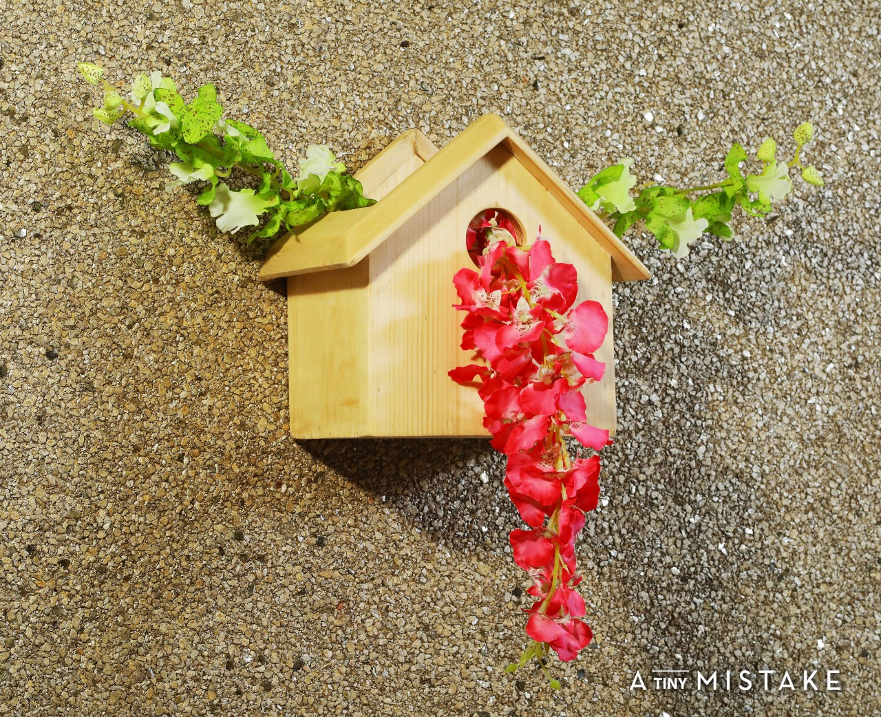 Pine Wood Decorative Bird House